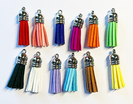 Set of 12 Suede Tassels