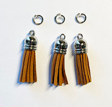 Brown Suede Tassels