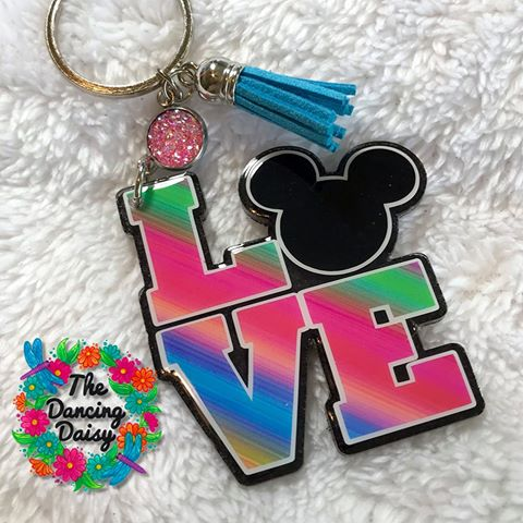 Love Mouse Ears Acrylic Blank