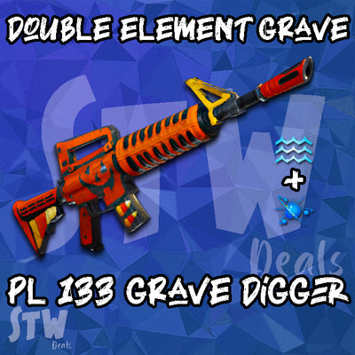 BRAND NEW 133 DOUBLE ELEMENT WATER/ENERGY Grave Digger - Random Perk - Max Perks Gravedigger