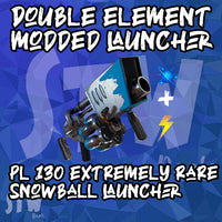 MODDED ONLY DOUBLE ELEMENT LAUNCHER IN FORTNITE - 130 ENERGY AND NATURE SNOWBALL LAUNCHER  - EXTREMELY RARE WEAPON - FULL Durability