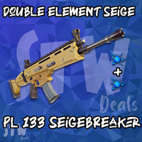Fortnite Lvl 133 SUPERCHARGED MODDED X2 ENERGY SIEGEBREAKER