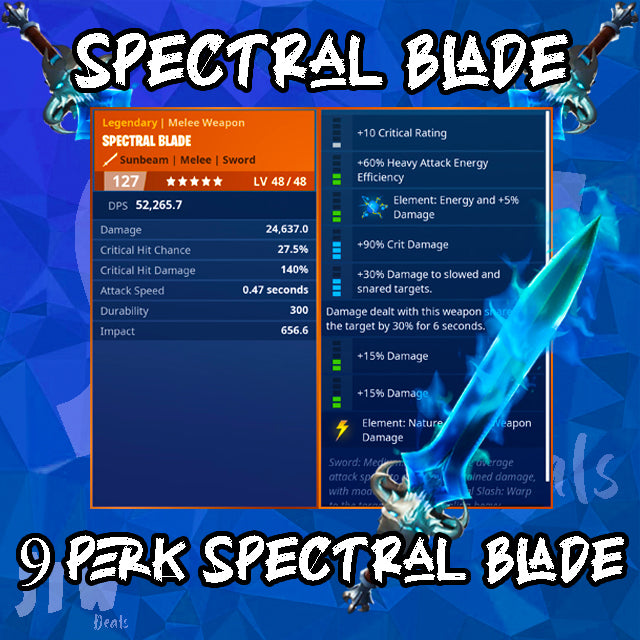 RAREST MODDED WEAPON EVER 9 PERK SPECTRAL BLADE