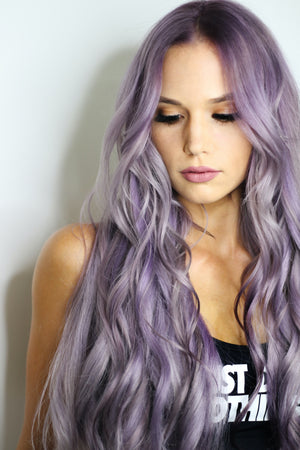 18 Beautiful Lavender Hair Inspiration Images