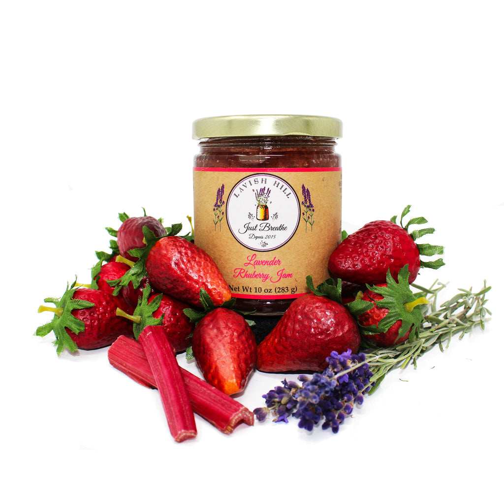 Lavender Rhuberry Jam - Lavish Hill Farms
