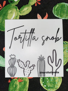Tortilla Snob Sticker- Gray