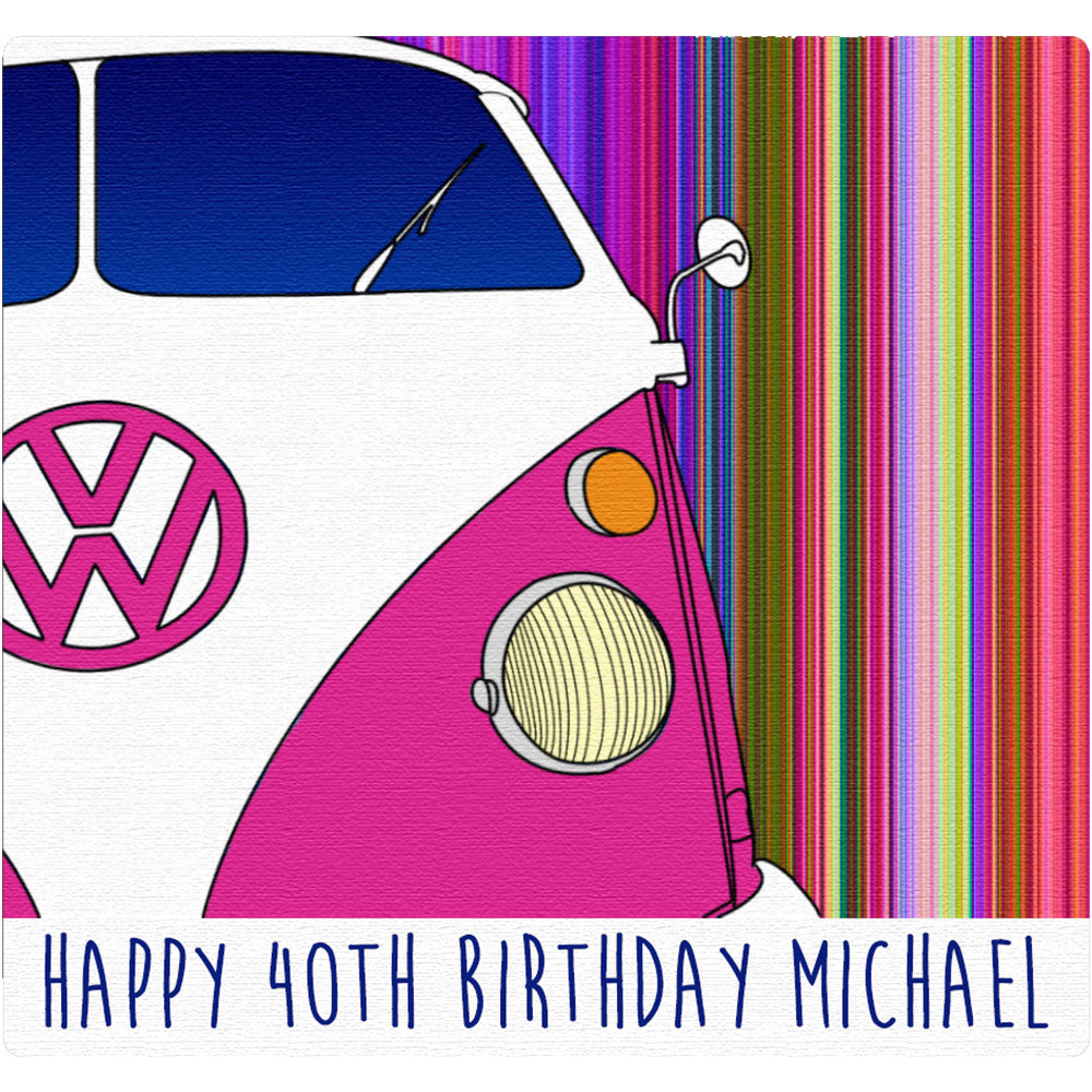 VW Camper Stripe Birthday