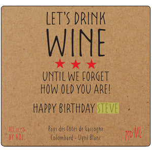 Let's Drink Wine Label