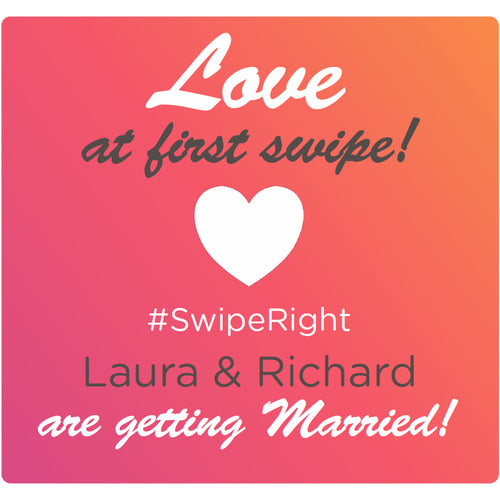 Love at first swipe - Corking Idea
