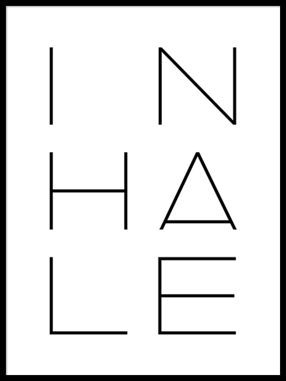 Inhale Wall Art Print - PRRRINT