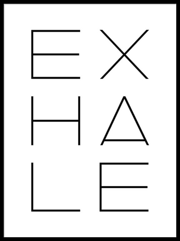 Exhale Wall Art Print - PRRRINT