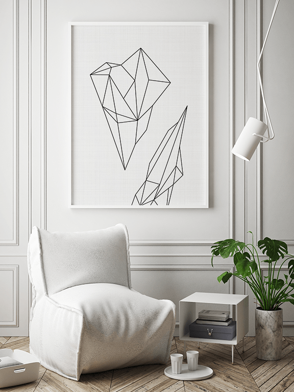 Abstract Geometric Wall Art Print - PRRRINT