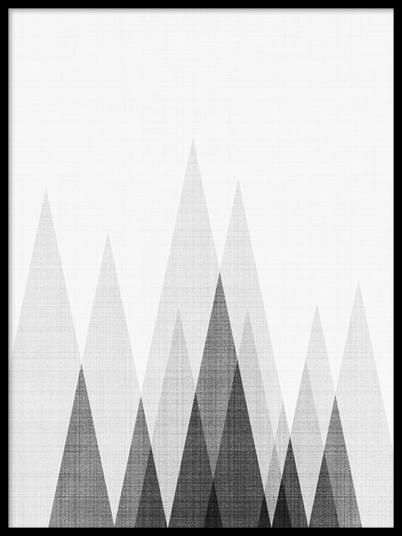 Abstract Triangles No2 Wall Art Print - PRRRINT