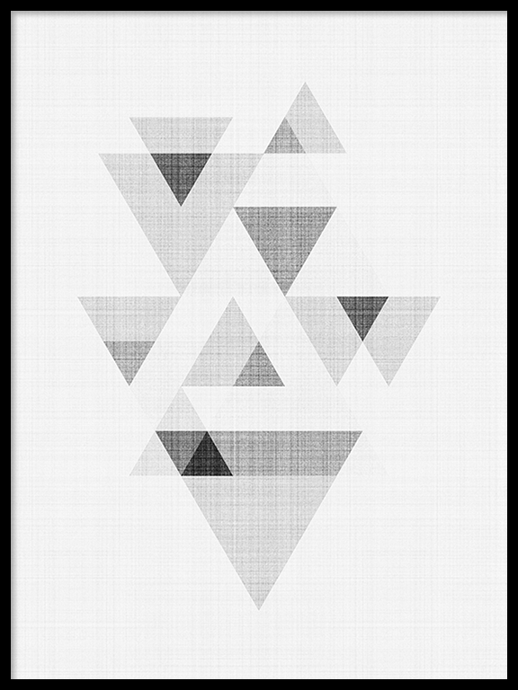 Abstract Triangles No3 Wall Art Print - PRRRINT