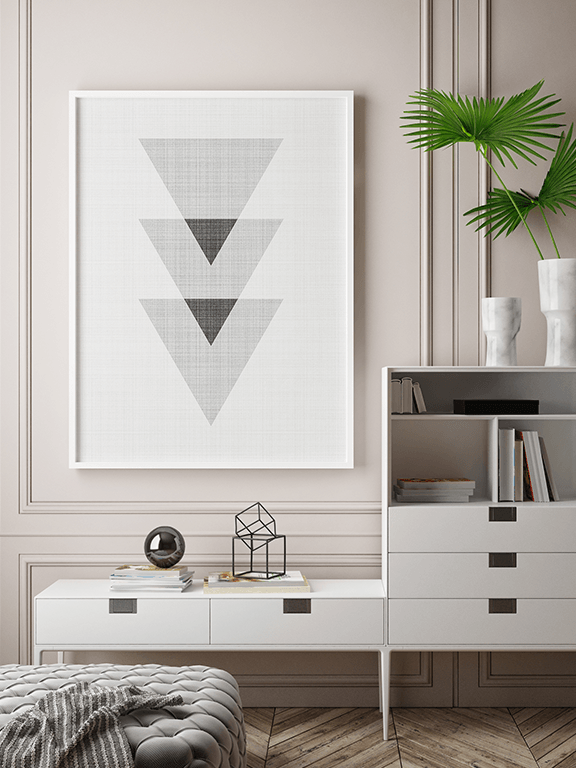 Abstract Triangles Wall Art Print - PRRRINT