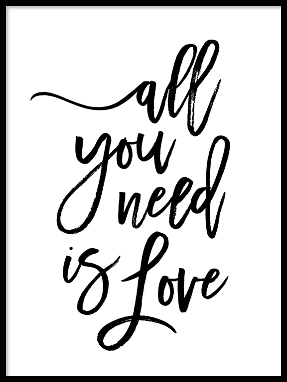 All You Need Is Love Wall Art Print - PRRRINT