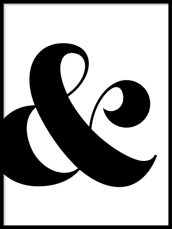 Ampersand Wall Art Print - PRRRINT