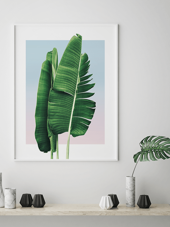Banana Leaves in Sunset No2 Wall Art Print - PRRRINT