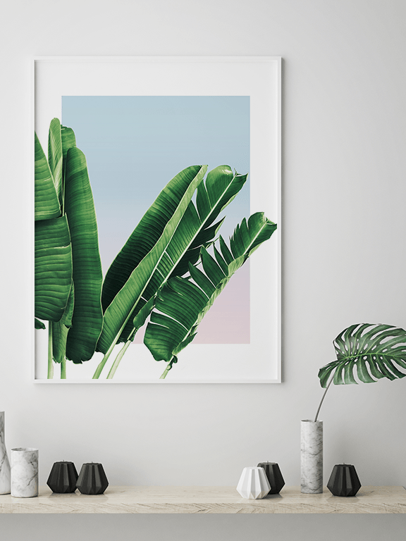 Banana Leaves in Sunset No3 Wall Art Print - PRRRINT