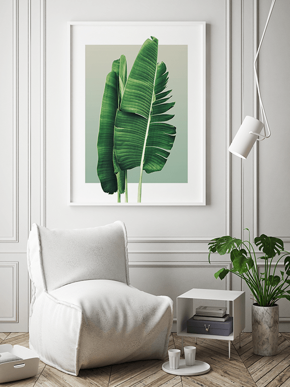 Banana Leaves No2 Wall Art in Olive - PRRRINT
