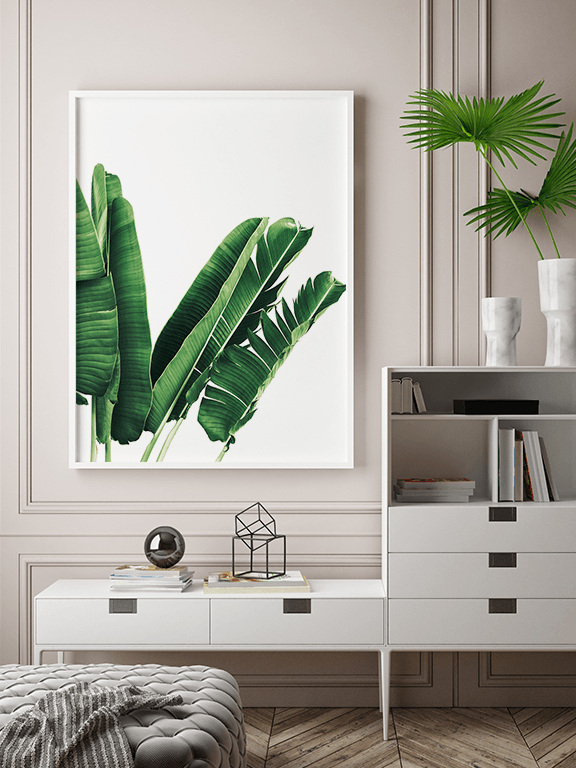 Banana Leaves No3 Wall Art Print - PRRRINT