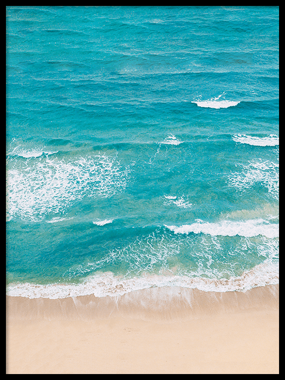 Beach Waves Wall Art Print - PRRRINT