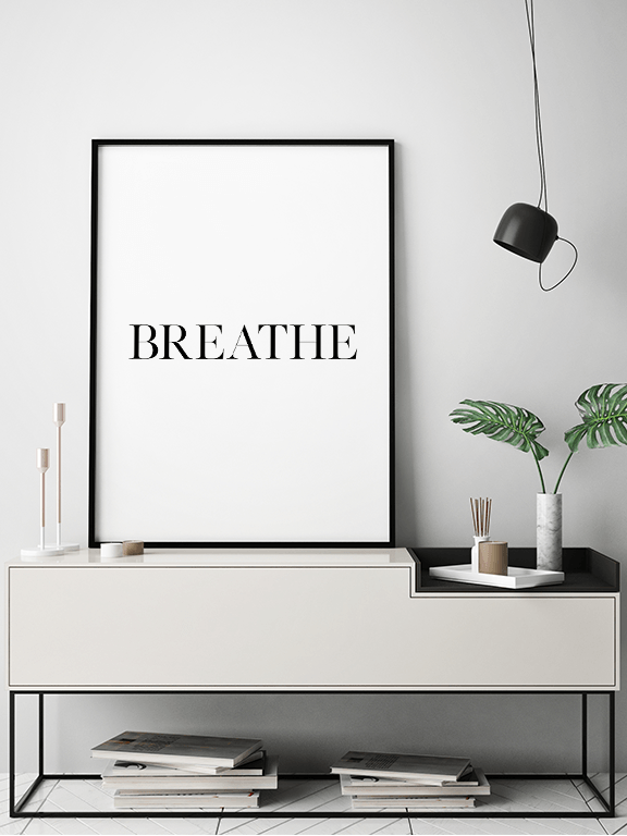 Breathe No3 Wall Art Print - PRRRINT