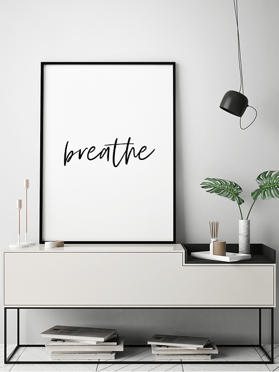 Breathe No4 Wall Art Print - PRRRINT