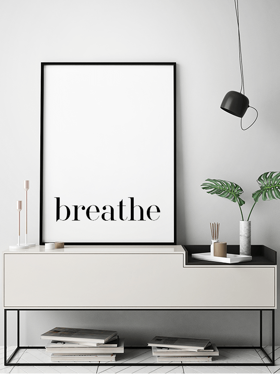 Breathe No5 Wall Art Print - PRRRINT