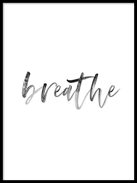Breathe No6 Wall Art Print - PRRRINT