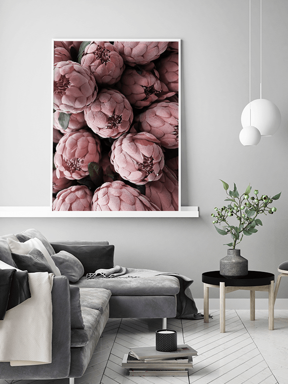 Burgundy Protea Art Print - PRRRINT