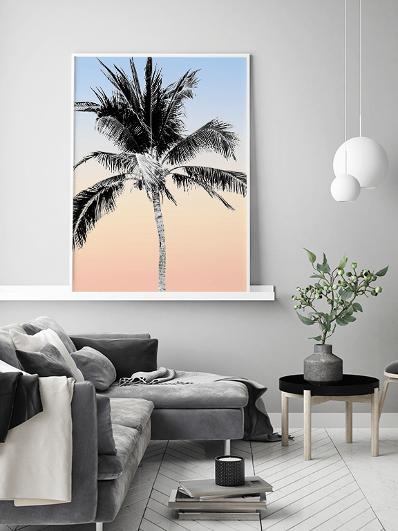 Cali Palm Tree Wall Art Print - PRRRINT