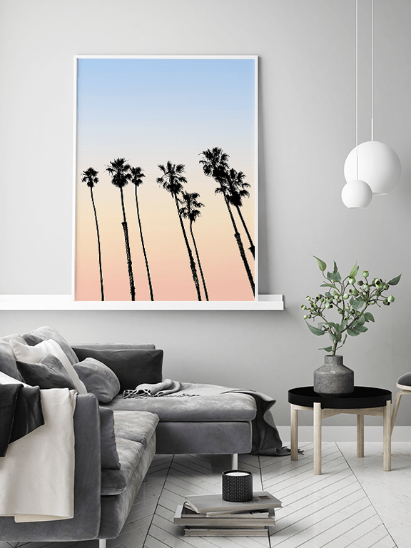 Cali Palm Trees No2 Wall Art Print - PRRRINT