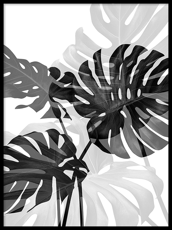 Double Monstera Wall Art Print - PRRRINT