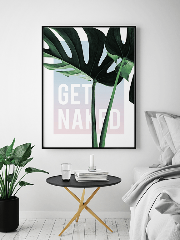 Get Naked Monstera Print in Sunset - PRRRINT