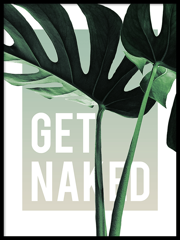 Get Naked Monstera Wall Art in Olive - PRRRINT