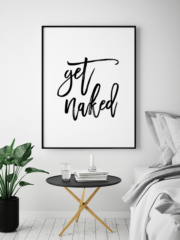 Get Naked No2 Wall Art Print - PRRRINT