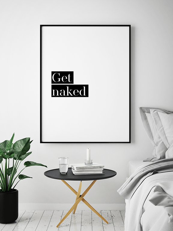 Get Naked No4 Wall Art Print - PRRRINT