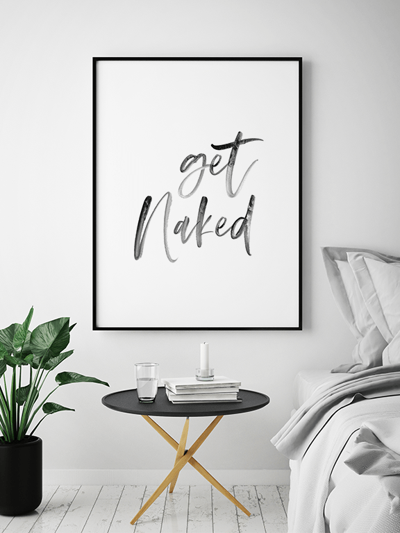 Get Naked No5 Wall Art Print - PRRRINT