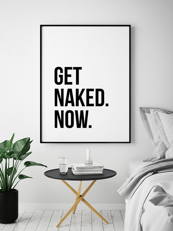 Get Naked No7 Wall Art Print - PRRRINT