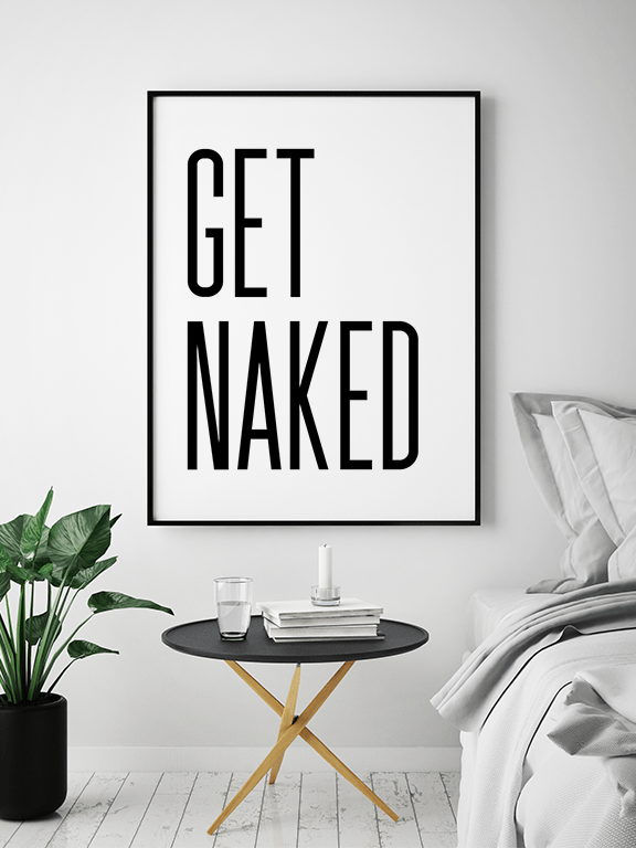 Get Naked No8 Wall Art Print - PRRRINT