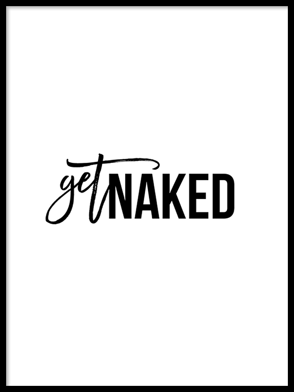 Get Naked No9 Wall Art Print - PRRRINT