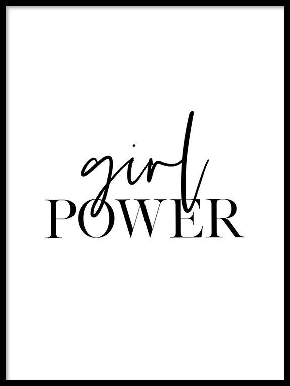 Girl Power Poster - PRRRINT