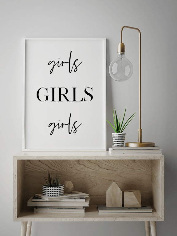 Girls Wall Art Poster - PRRRINT