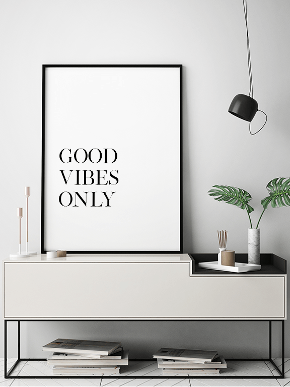 Good Vibes Only No3 Quote Wall Art - PRRRINT