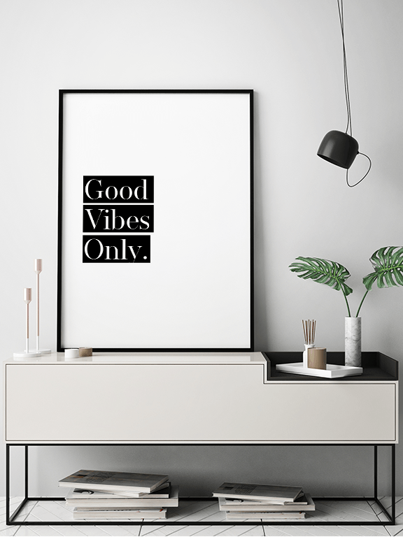 Good Vibes Only No4 Quote Wall Art - PRRRINT