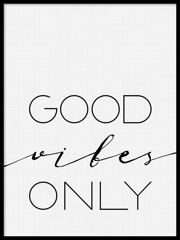Good Vibes Only Wall Art Print - PRRRINT