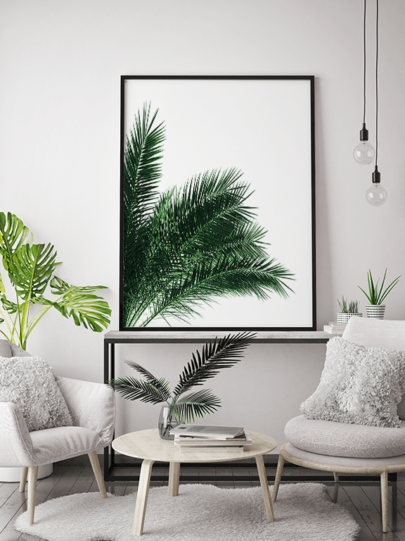 Green Palm Leaves No3 Print - PRRRINT