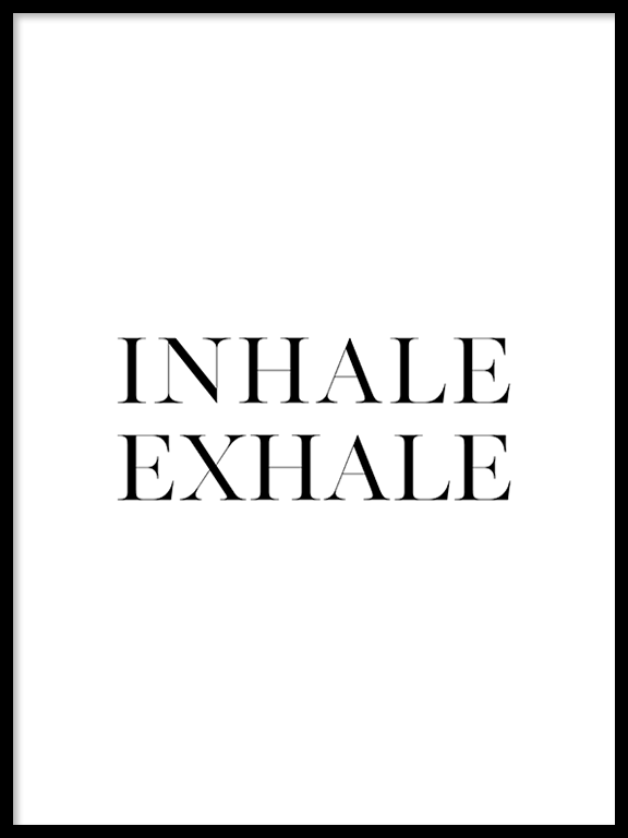 Inhale Exhale No2 Wall Art Print - PRRRINT