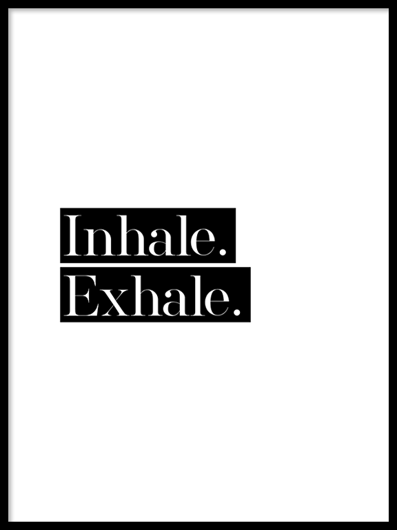 Inhale Exhale No3 Wall Art Print - PRRRINT